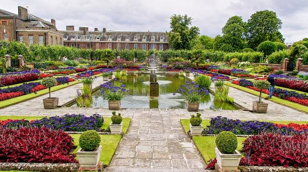 Jardin de Lady Diana devant son Palais Kensington